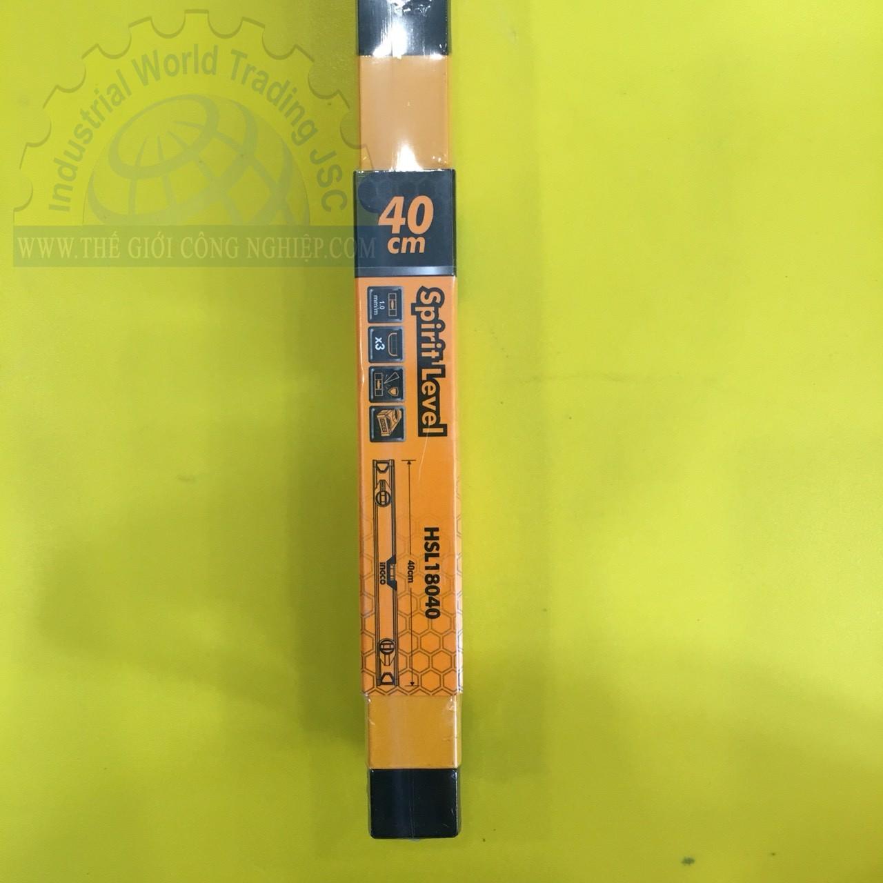 Thước thủy 400mm   HSL18040 INGCO