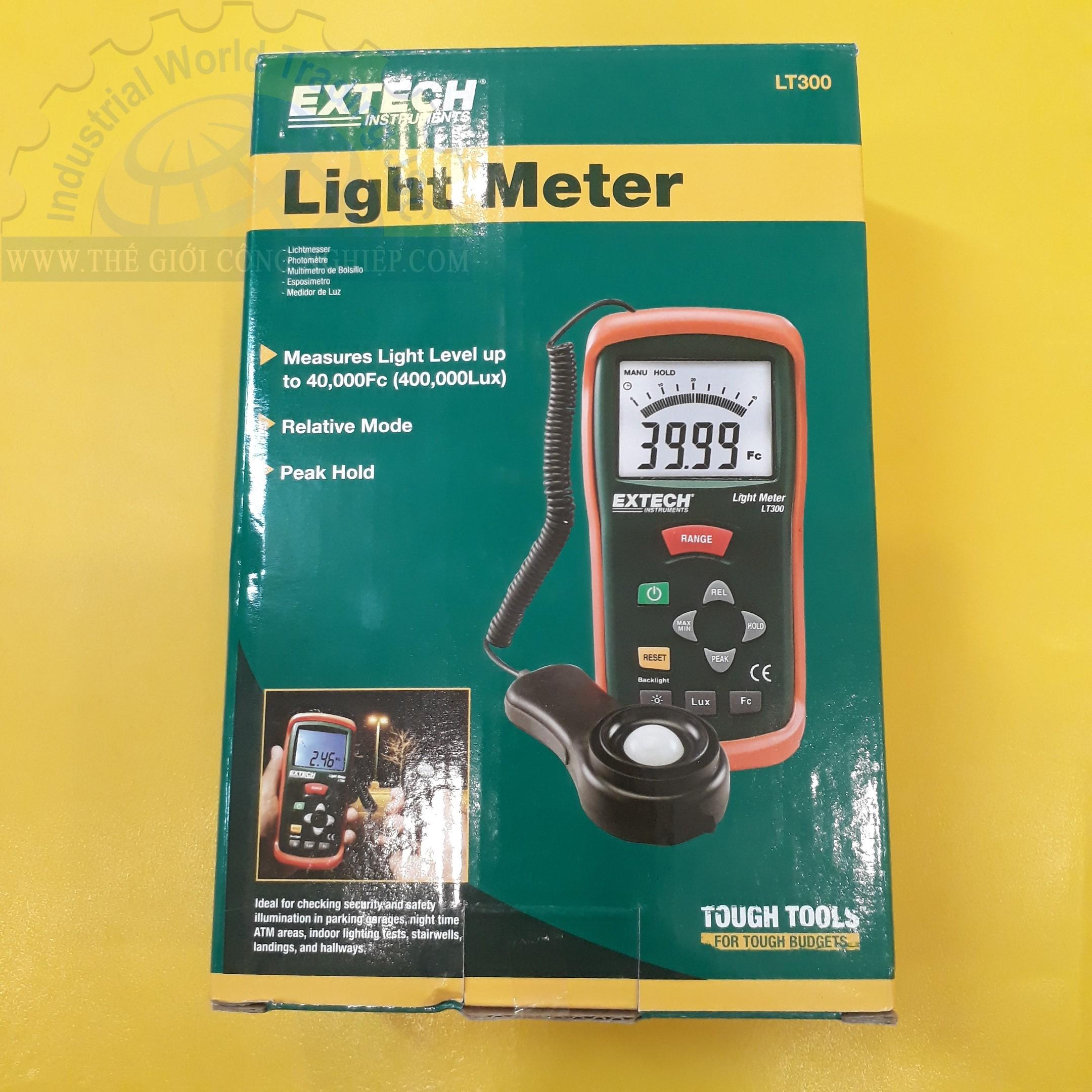 Máy đo cường độ ánh sáng 0-400,000Lux  LT300 Extech