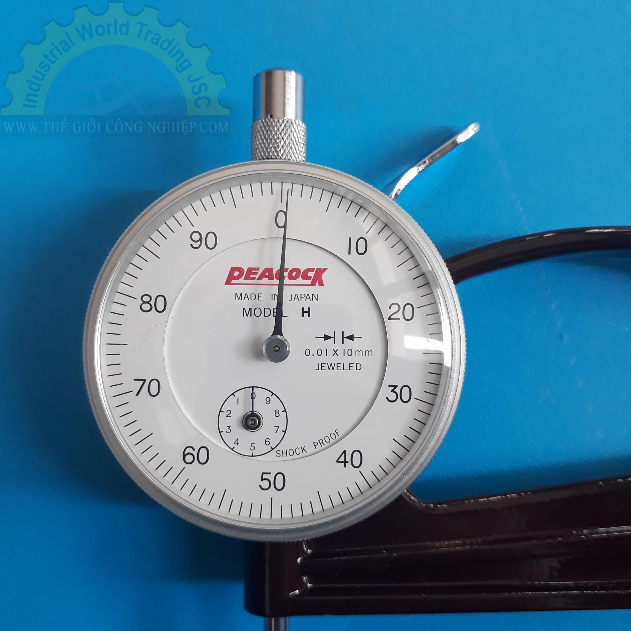 Đồng hồ đo độ dày 10mm  H-20 PEACOCK
