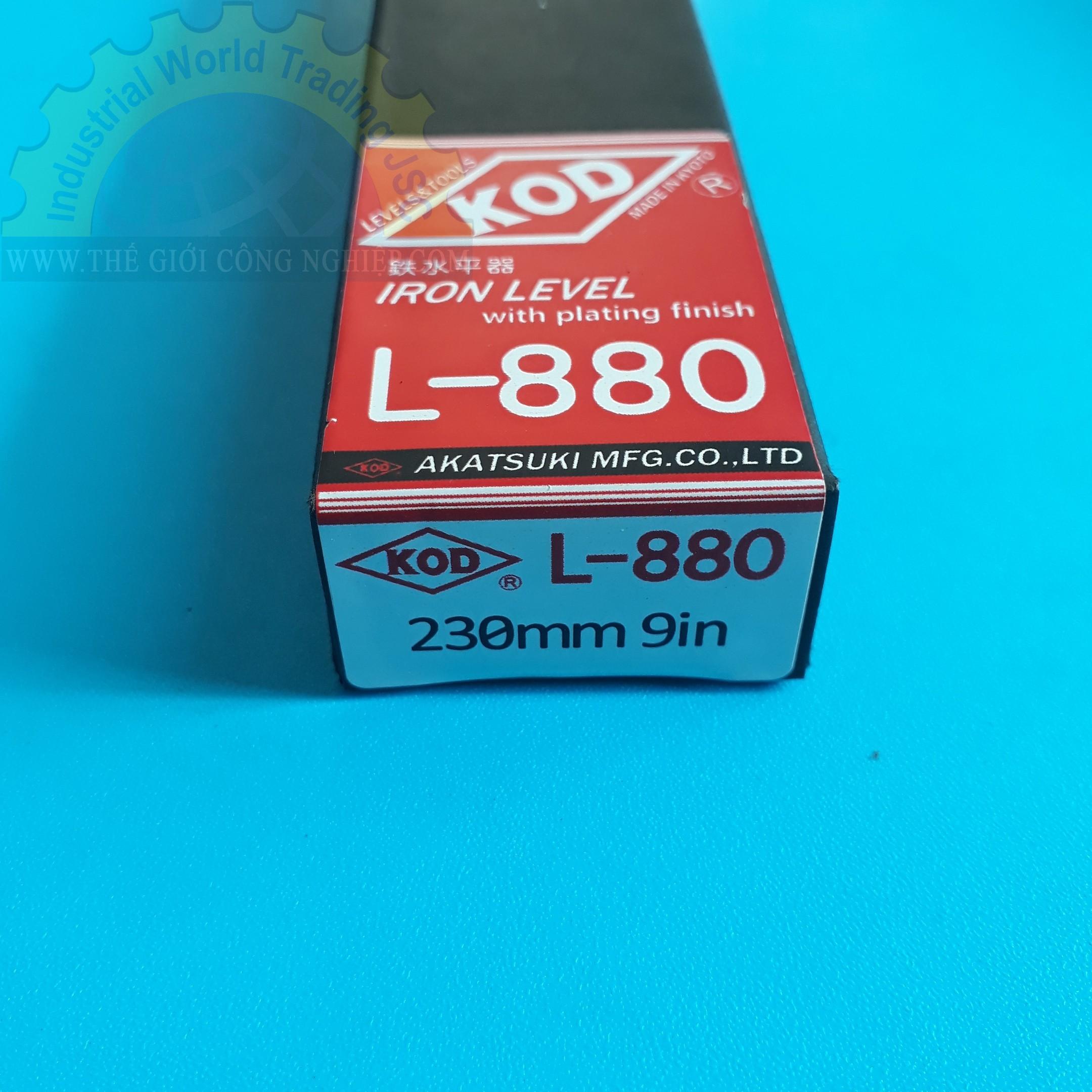 Thước thủy bằng sắt 230mm  L-880 (230mm) KOD