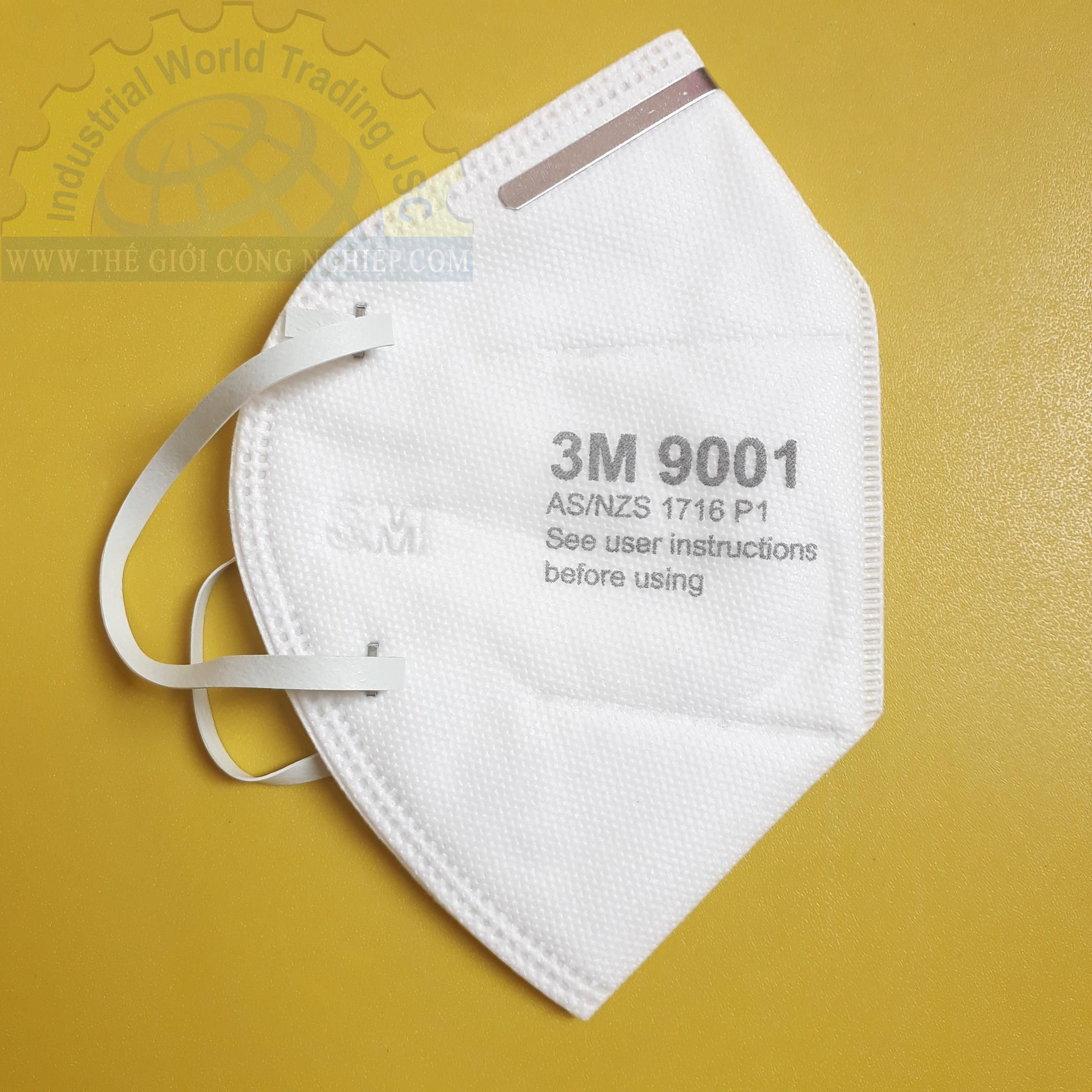 Khẩu trang chống bụi với màng lọc tĩnh điện  9001A 3M