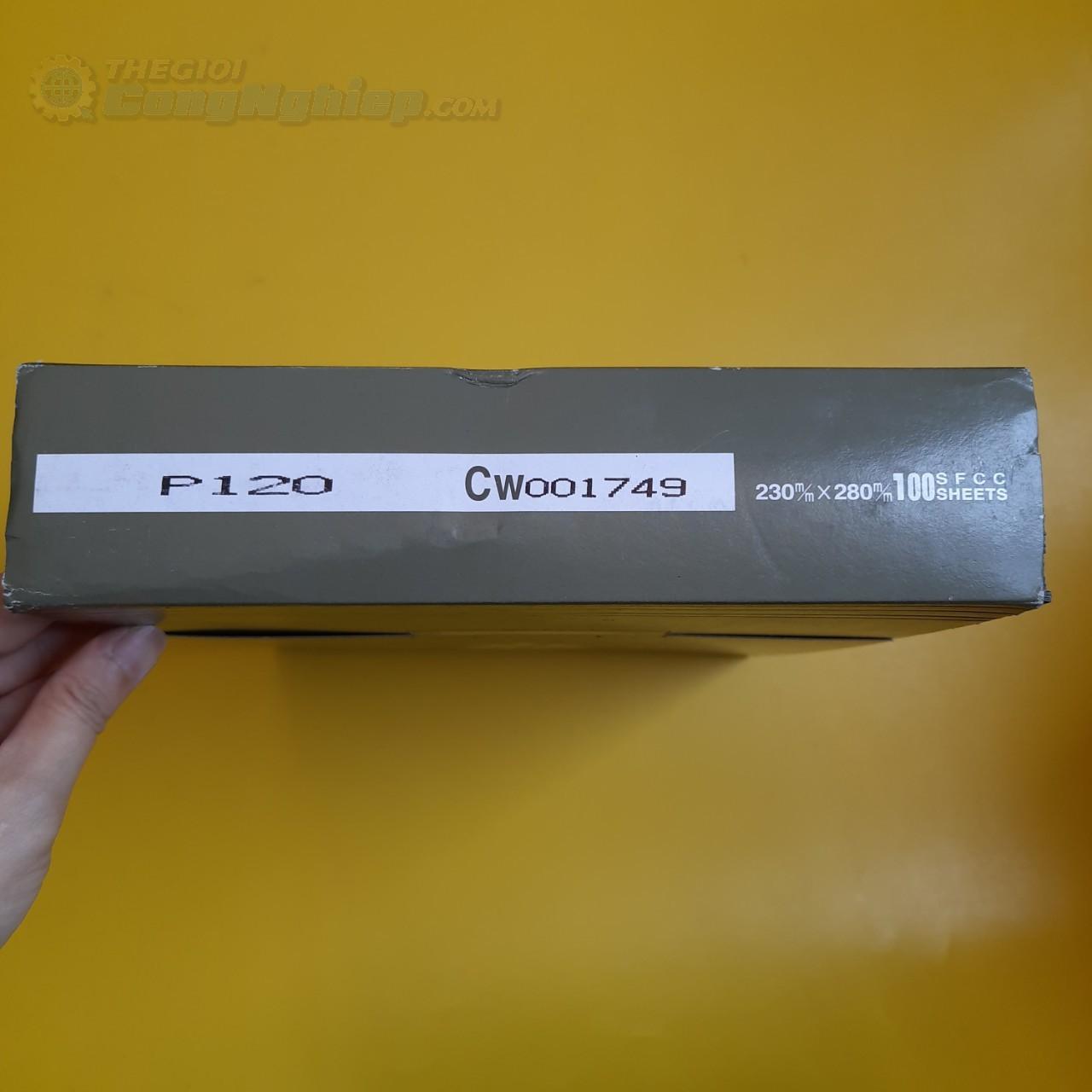 Giấy nhám tờ 230mm x 280mm  P120 KOVAX