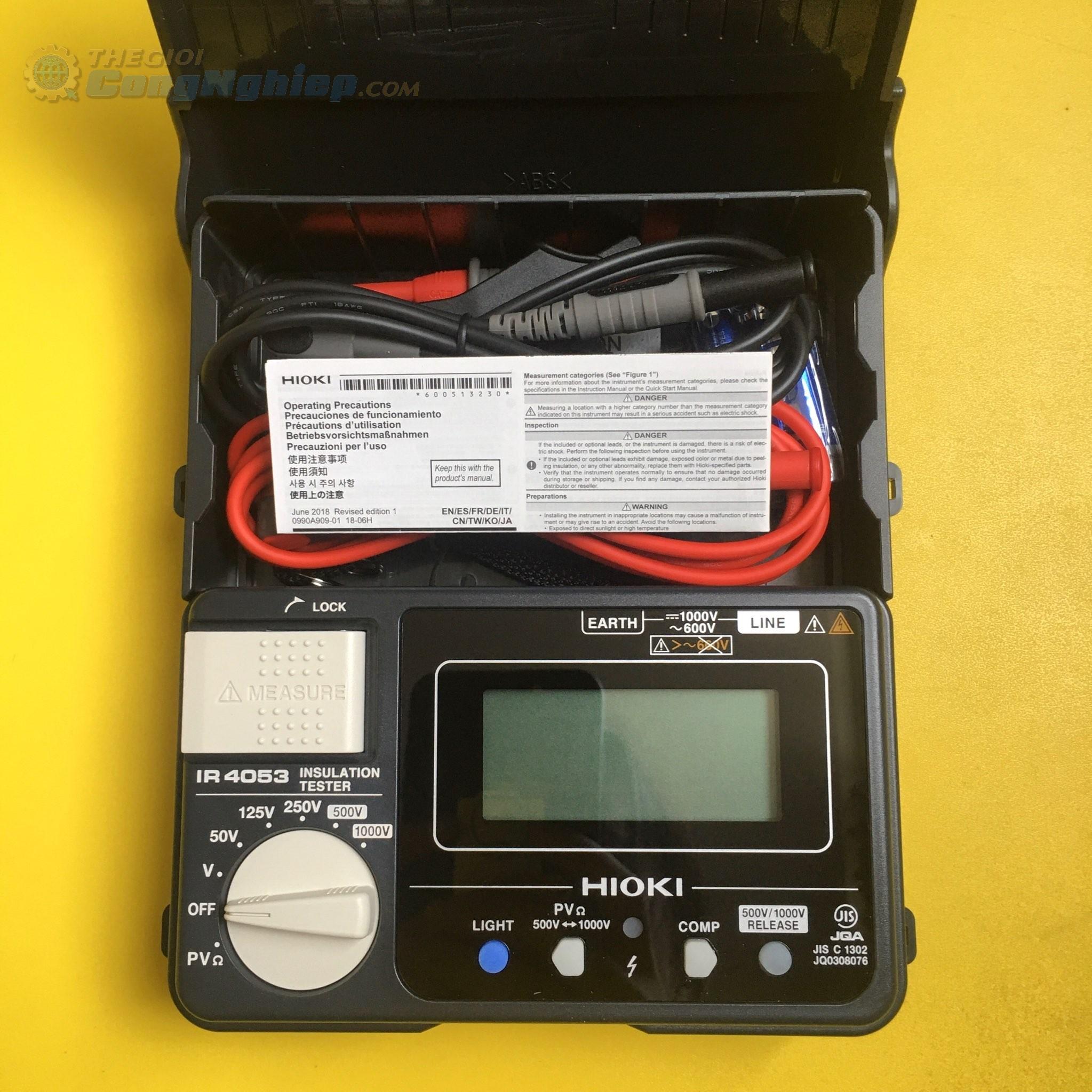 Máy điện trở cách điện 5 dãi đo  IR4053 - 10 HIOKI