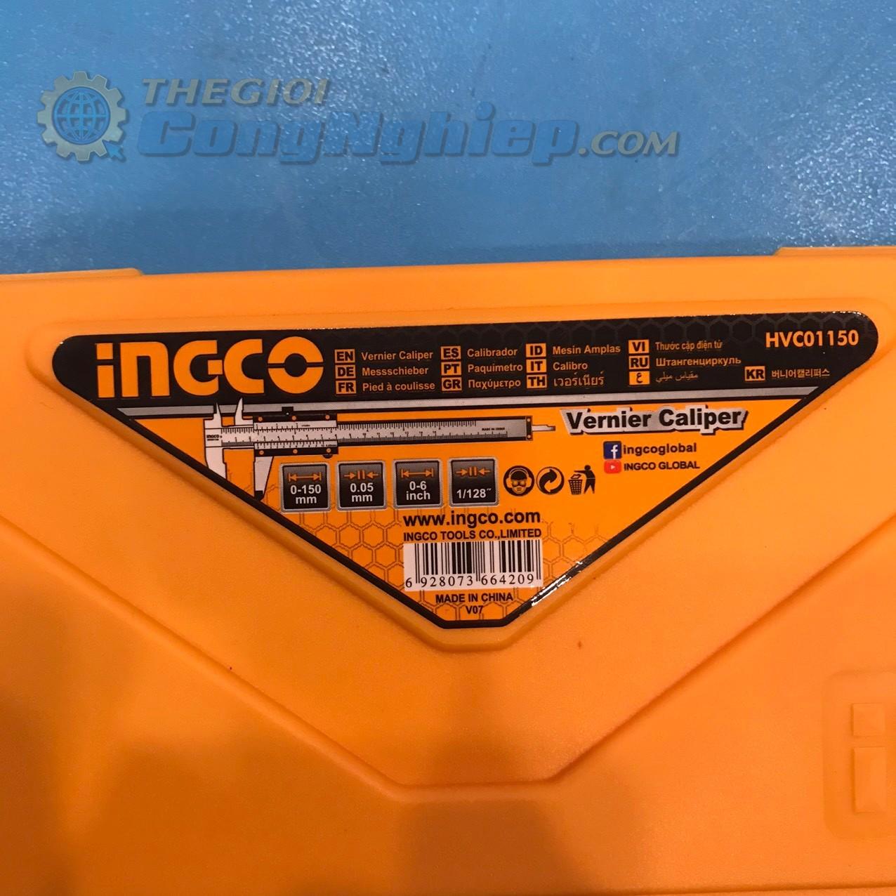 Thước cặp cơ  phạm vi đo  0 - 150mm  HVC01150 INGCO
