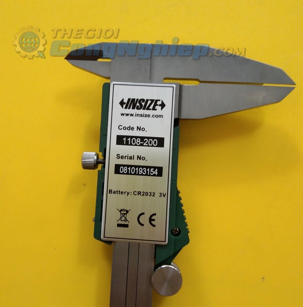 Thước cặp điện tử  0-200mm/0-8  1108-200W Insize