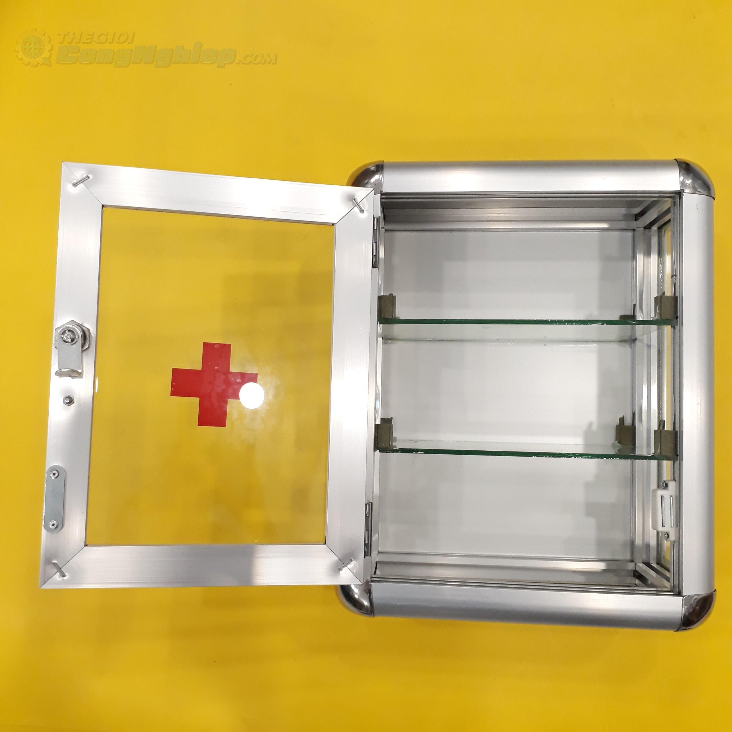 Tủ thuốc y tế hợp kim nhôm cao 35cm x ngang 28cm x hông 15cm, loại B1  TGCN-50208 Vietnam