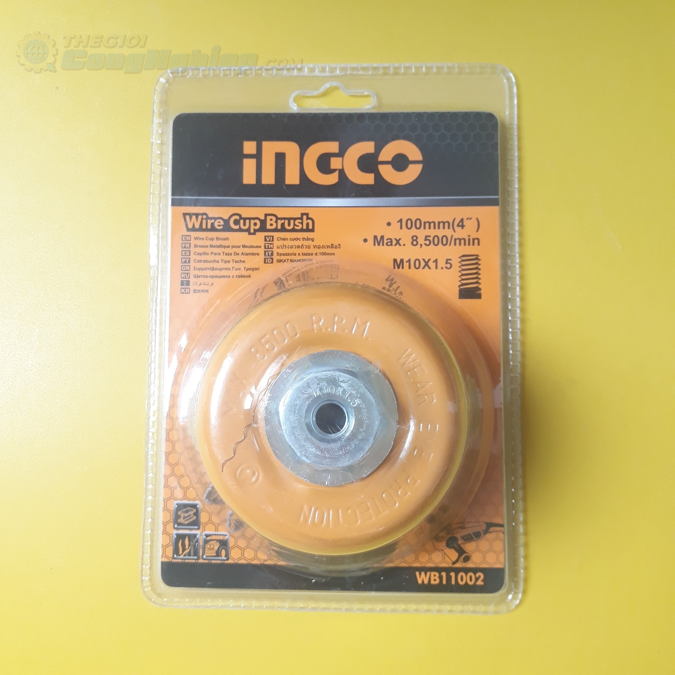 Chén cước thẳng 100mm  WB11002 INGCO