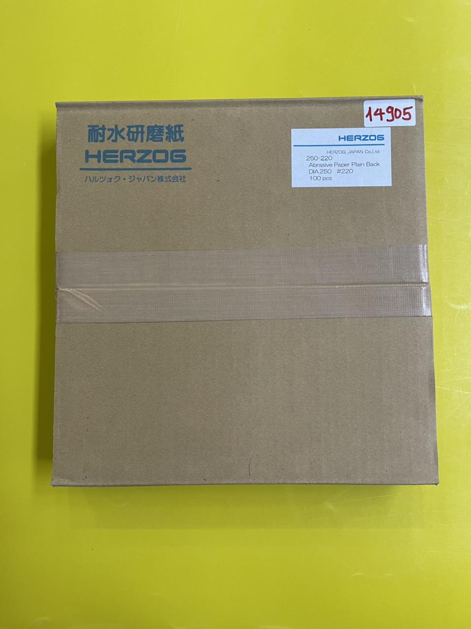 Giấy mài mẫu độ mịn grit #220, loại  không có keo dính đường kính 250mm  250-220 Herzog
