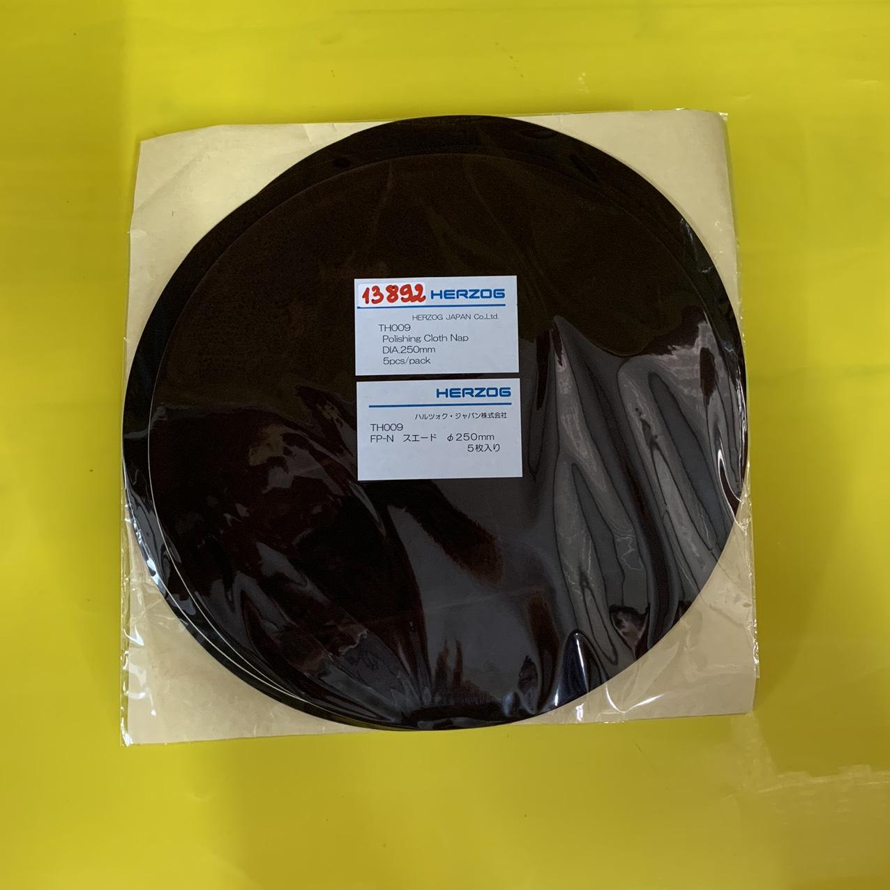 Vải đánh bóng tinh dùng với dung dịch đánh bóng, kích thước hạt 3~0.1µ, đường kính 250mm  TH009 Herzog