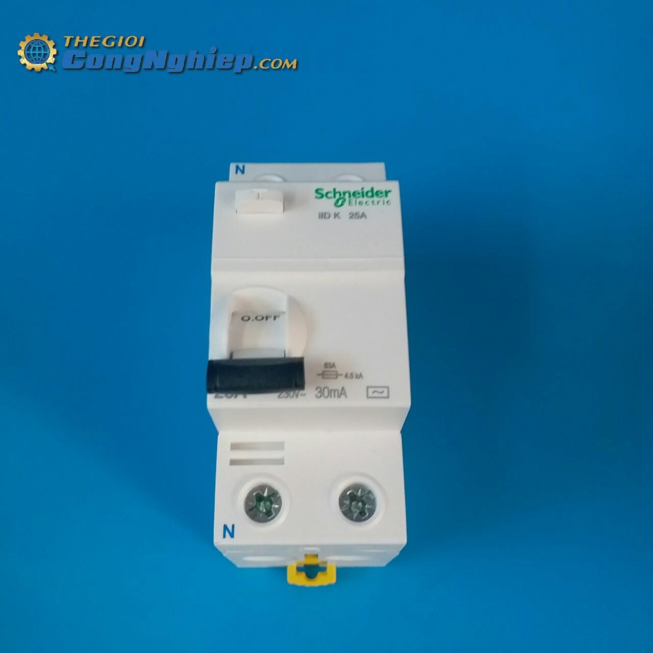 Cầu dao chống dòng  rò RCCB 2P 30MA 25A  A9R50225 schneider-electric