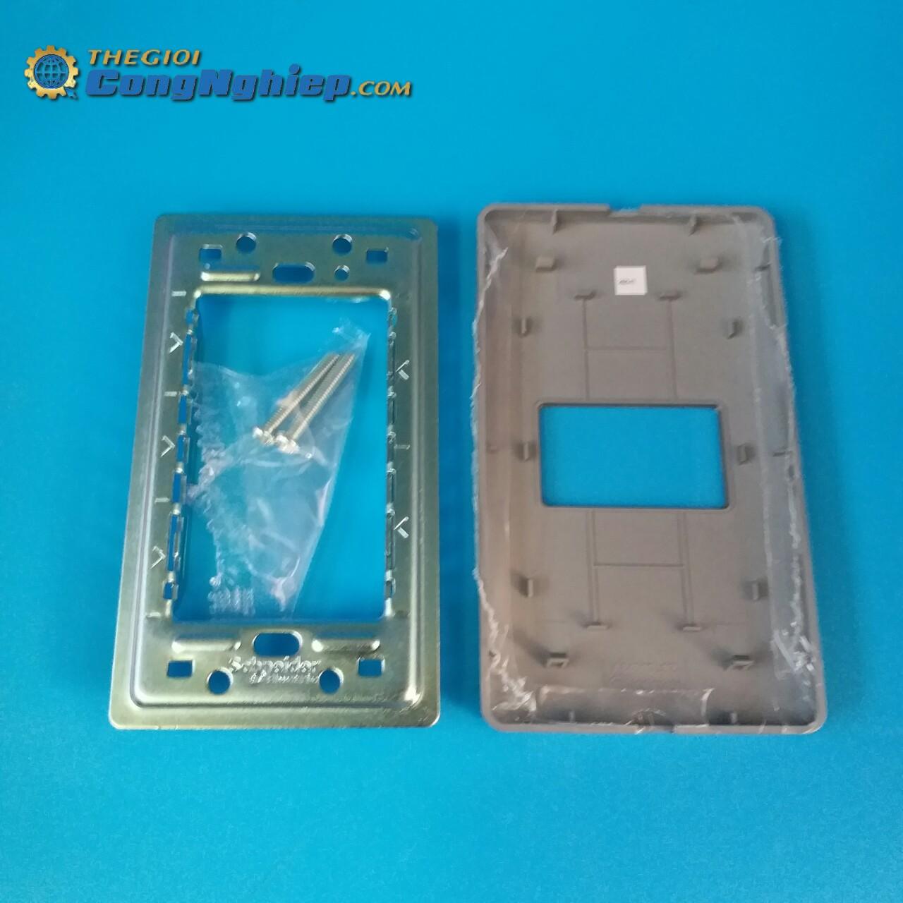 Mặt cho 1 thiết bị size S, màu đồng ánh bạc  A8401S_SZ_G19 schneider-electric