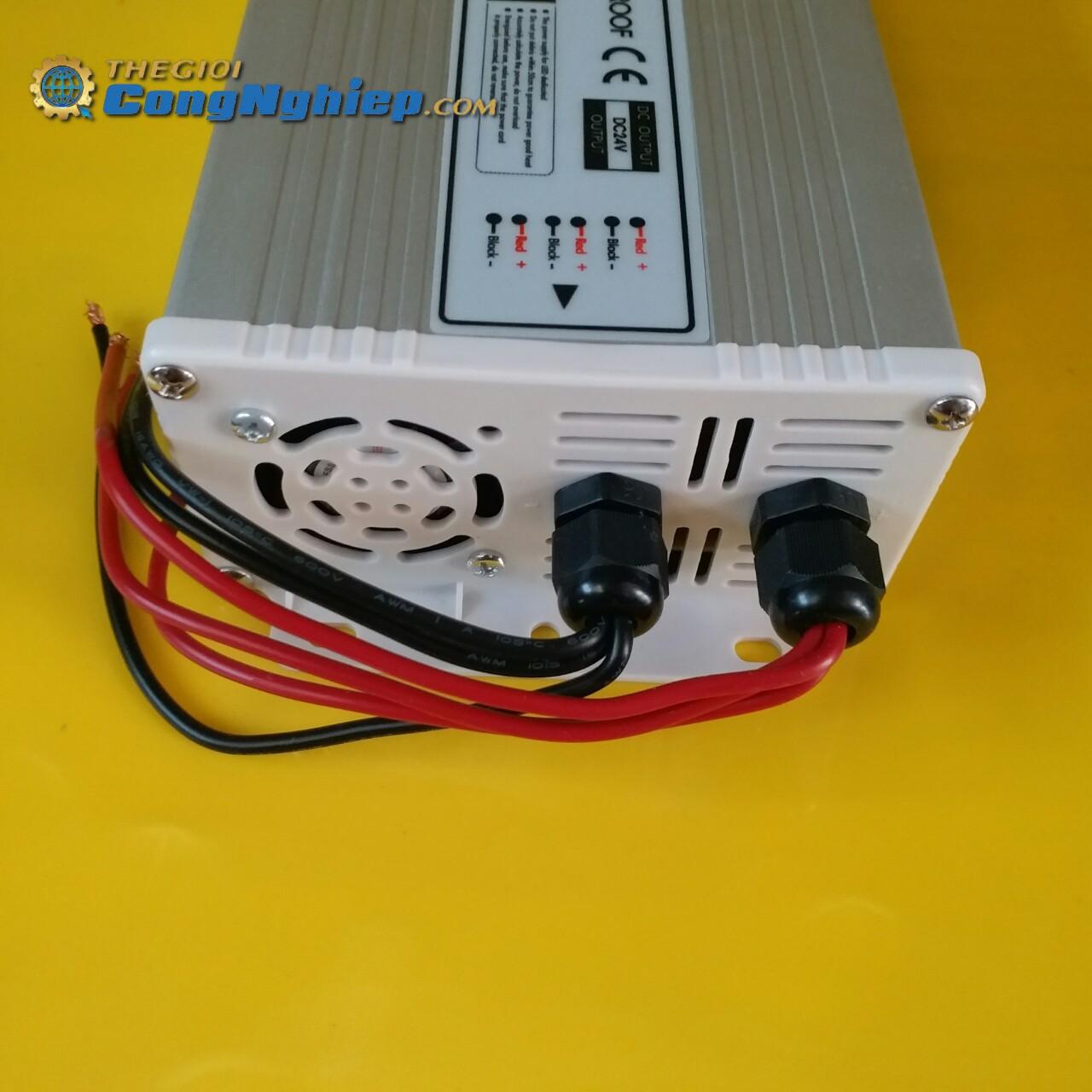 Nguồn cho led dây có điện áp vào 100-240VAC 50/60Hz, điện áp ra 24VDC, công suất 400W  FX400-H1V24 JCVTECH