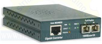 Bộ chuyển đổi quang điện, MM, 1000Base-SX, SC PEL-MC-1GB-MMSC-US-240V AMP