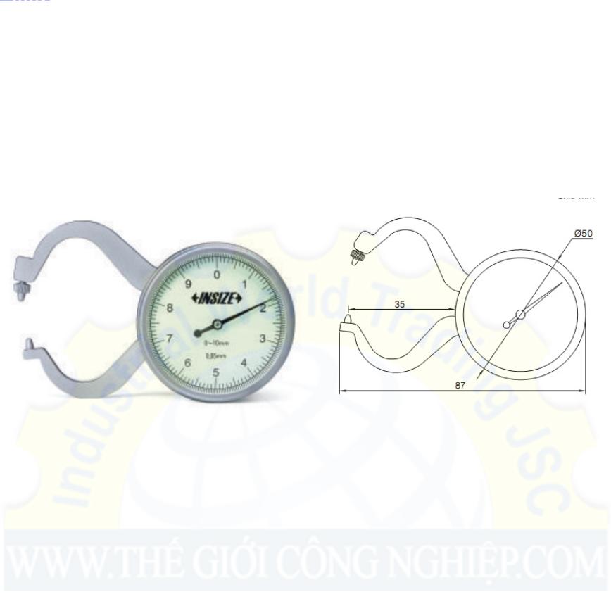 Đồng hồ đo độ dày 0-10/±0.1mm  2863-10 Insize
