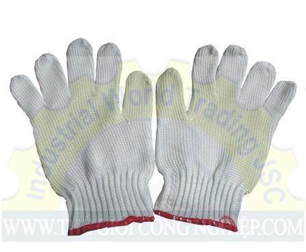 Găng tay sợi poly màu trắng 40g  TGCN-11092 Vietnam