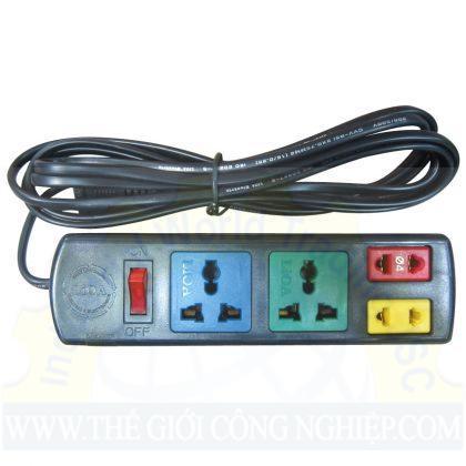 Ổ cắm điện 2D +2S dây 3mx2  2D2S32 LIOA