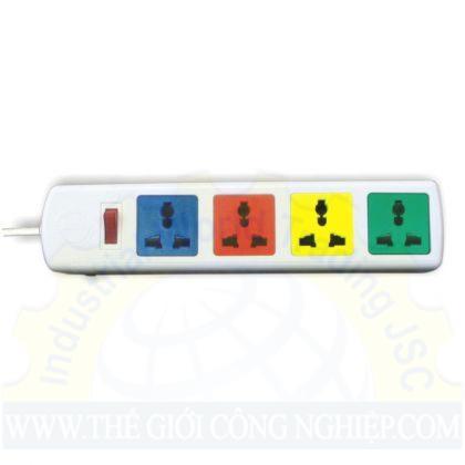 Ổ cắm điện 4D có nắp che dây 3mx2 trắng  4D32WN LIOA