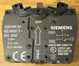 Tiếp điểm phụ 3SB3400-0A Siemens