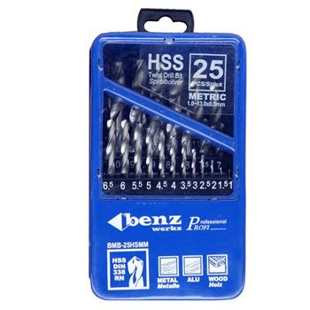 Bộ mũi khoan kim loại HSS25 Benz-werkz