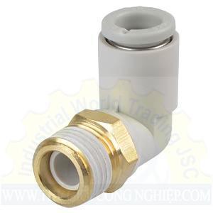 Đầu nối khí 1 đầu ren, 1 đầu ống chữ L KQ2L04-01AS SMC
