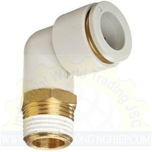 Đầu nối khí 1 đầu ren, 1 đầu ống chữ L KQ2L06-02AS SMC