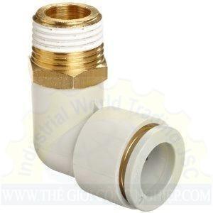 Đầu nối khí 1 đầu ren, 1 đầu ống chữ L KQ2L06-03AS SMC