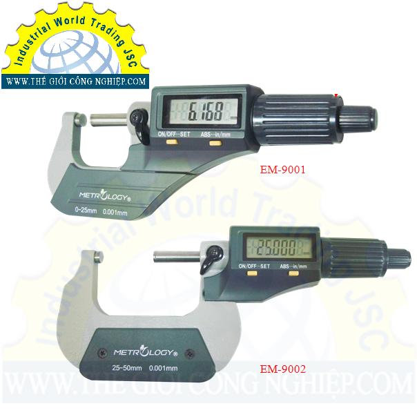 Panme đo ngoài điện tử 50-75mm/ 2-3''  EM-9003 Metrology