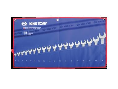 Bộ cờ lê vòng miệng 18 chi tiết hệ mét 1218MRN Kingtony