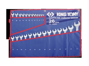 Bộ cờ lê vòng miệng 26 chi tiết hệ mét 1226MRN Kingtony
