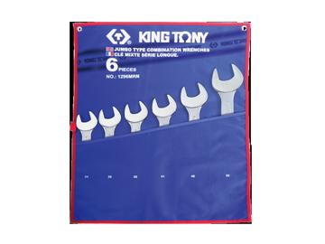 Bộ cờ lê vòng miệng 6 chi tiết hệ mét 1296MRN Kingtony