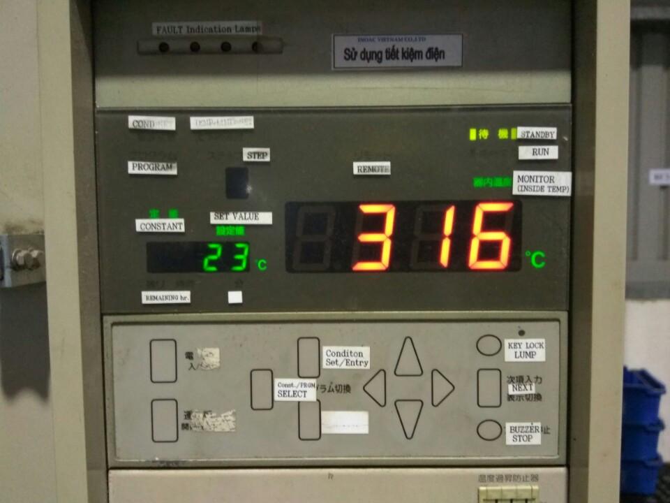 CPU và màn hình hiển thị của máy PHH-301M P-100 Espec