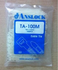 Dây thít nhựa trắng TA-100M ANSLOCK