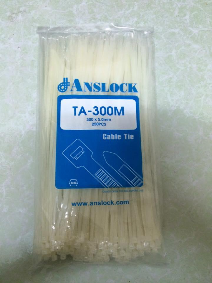 Dây rút nhựa trắng TA-300M ANSLOCK