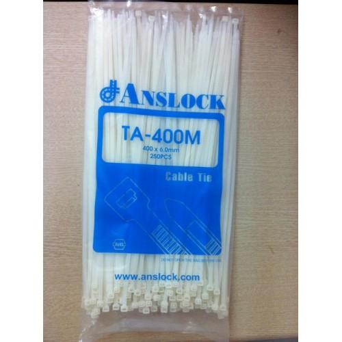 Dây rút nhựa trắng TA-400M ANSLOCK