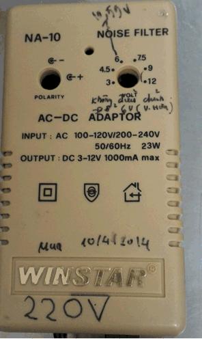Cục sạc (Adaptor) NA-10 WINSTAR