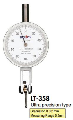 Đồng hồ so chân gập có dải đo 0 ~ 0.2 mm  LT-358 Teclock