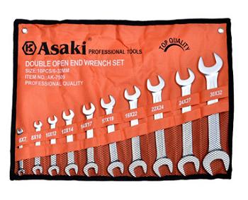 Bộ cờ lê 2 đầu miệng 10 chi tiết AK-7509 ASAKI