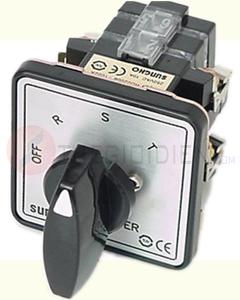 Chuyển mạch Ampe 3P3W2CT, 4 vị trí (OFF,R,S,T), Xám SHCS-SHB-A332 Sungho