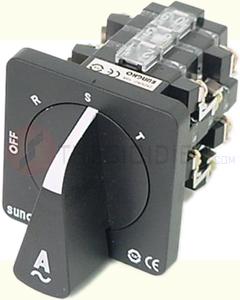 Chuyển mạch Ampe 3P3W3CT, 3 vị trí (R,S,T), Đen SHCS-ETB-A333 Sungho