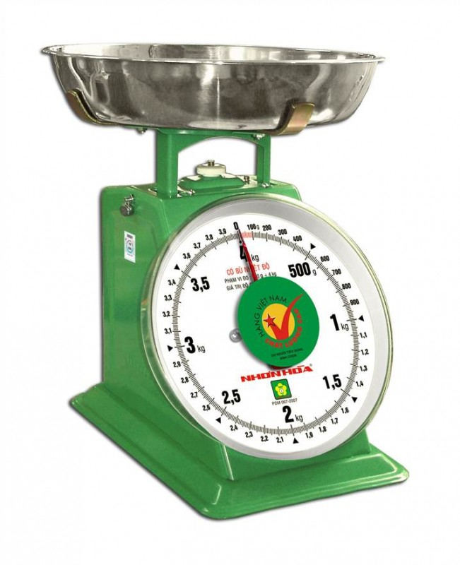 Cân đồng hồ mặt số 10kg NHS-10 NHONHOASCALE