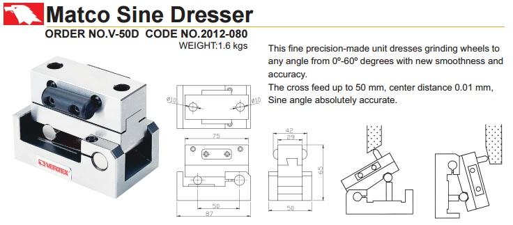 Đồ gá sửa đá loại nghiêng V-50D Vertex