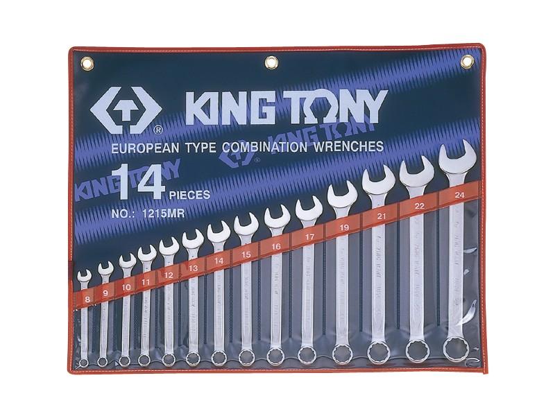 Bộ cờ lê vòng miệng hệ mét 14 chi tiết 10-32mm  1214MR10 Kingtony