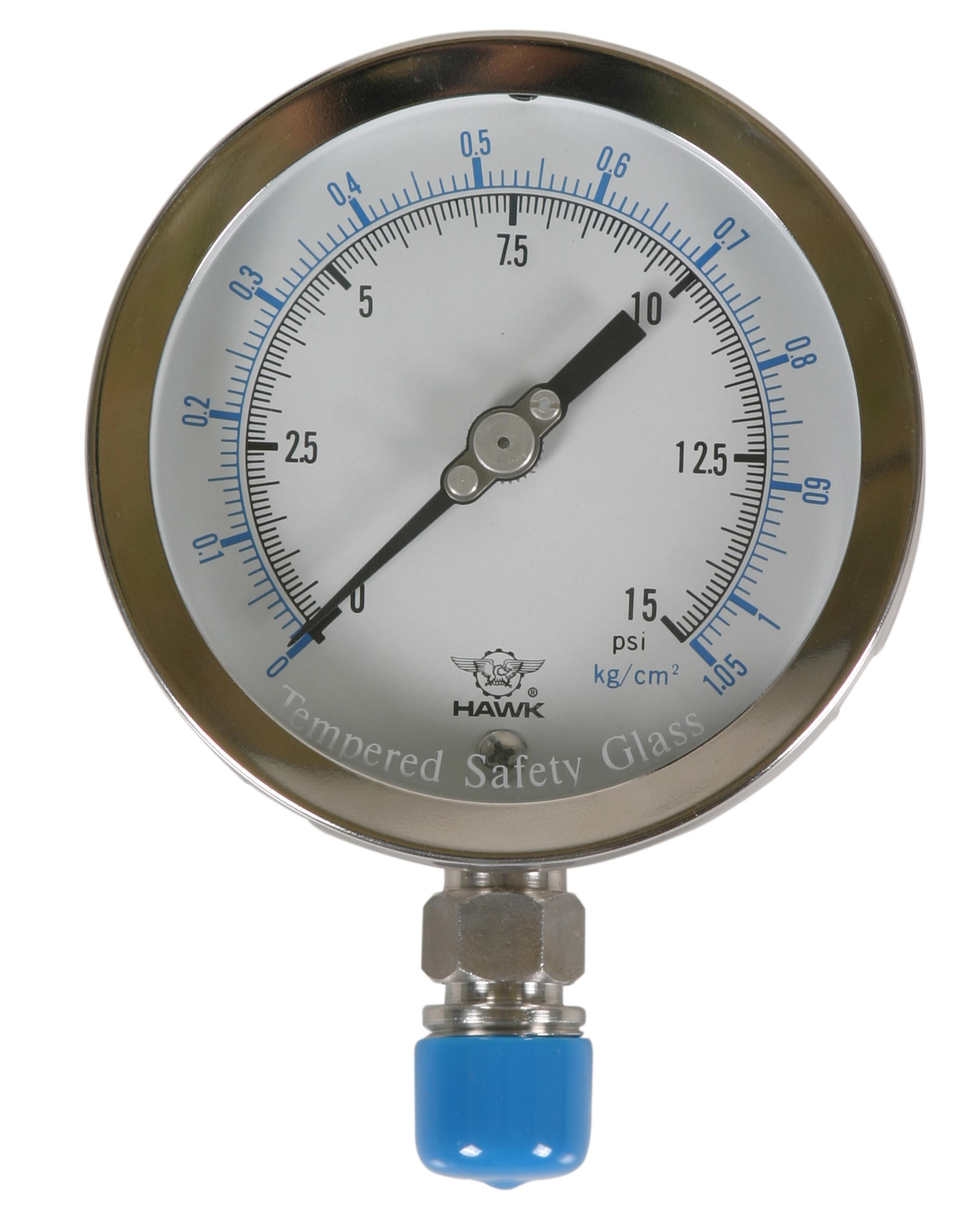 Đồng hồ áp lực dầu ren 13 150 kg/cm2 ren 13 HawkEye