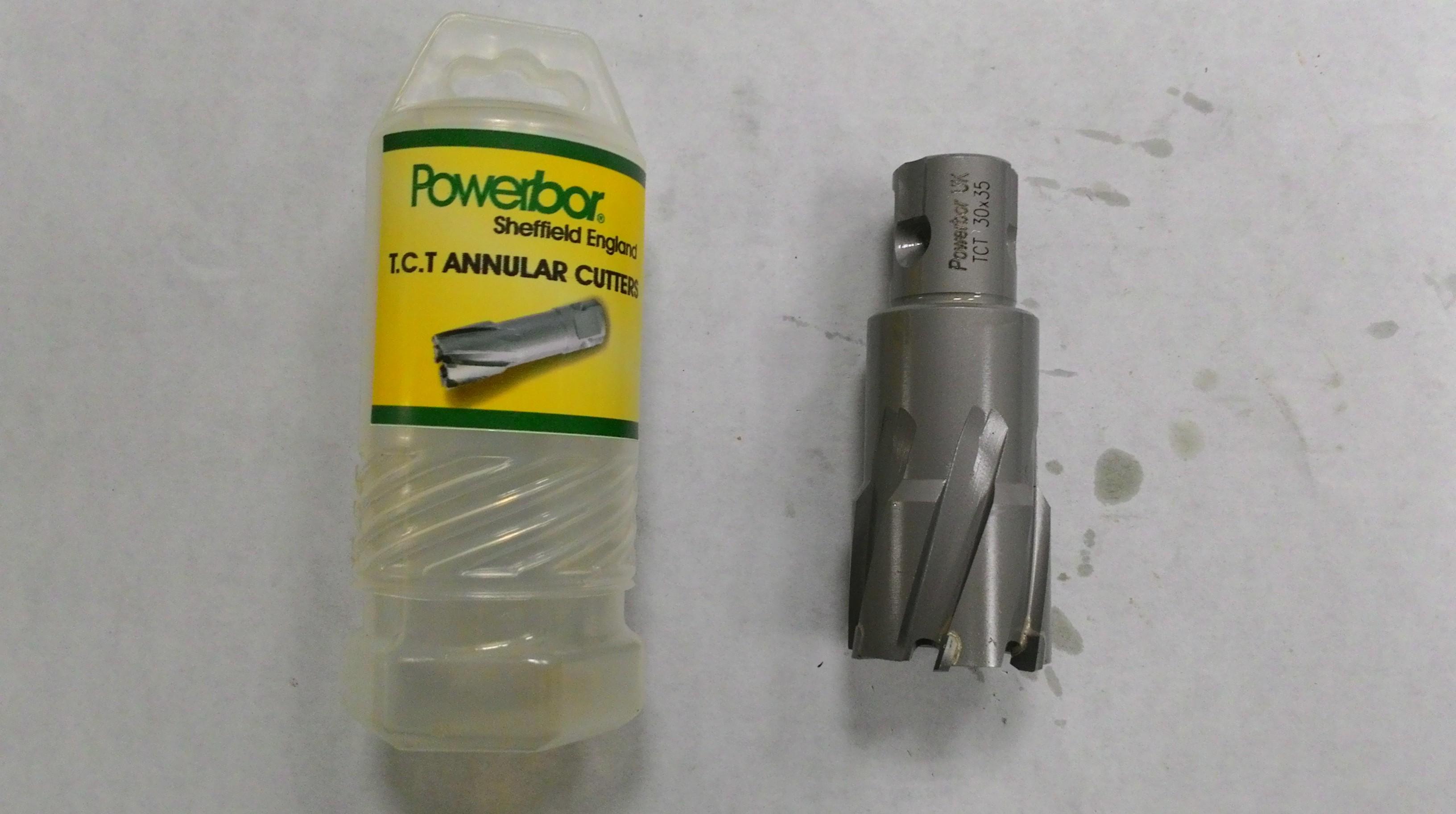 Mũi khoan từ hợp kim phi 40 cắt sâu 50mm  TCT 40x50 POWERBOR