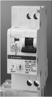 Cầu dao chống dòng rò có chức năng chống quá tải RCBO BV-DN 1PN 16A 300 Mitsubishi