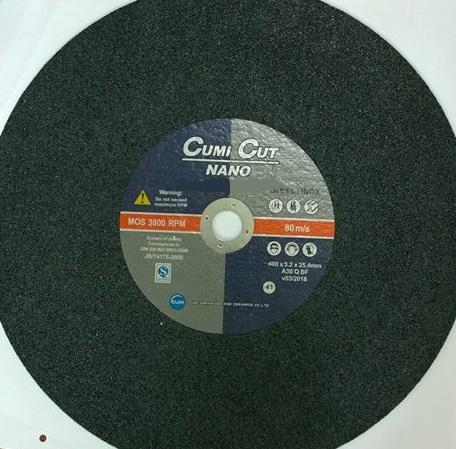 Đá cắt inox 400×3.2×25.4 mm A30 Q BF CUMI