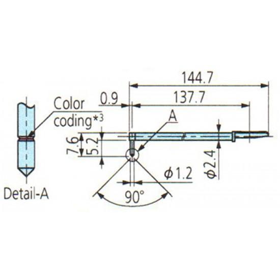 Đầu đo cho máy đo độ nhám 12AAB414 MITUTOYO