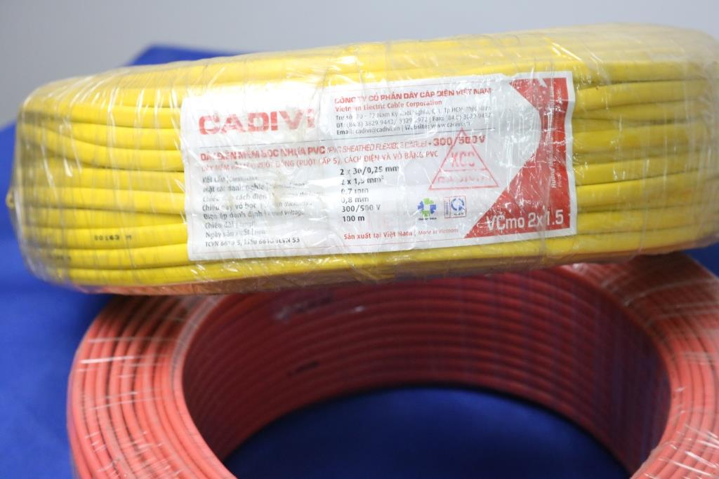 Dây điện dẹp  VCmo 2*1,5mm2 CADIVI