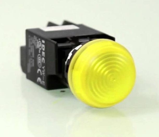 Đèn báo màu vàng phi 25 ( báo lỗi motor chính ) TGCN- 21190 HANYOUNG