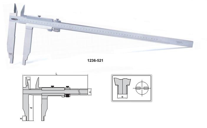 Thước cặp cơ khí 500mm  1236-521 Insize